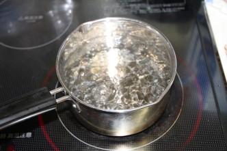 お水を沸かす