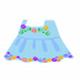 刺繍ワンピ(bl)
