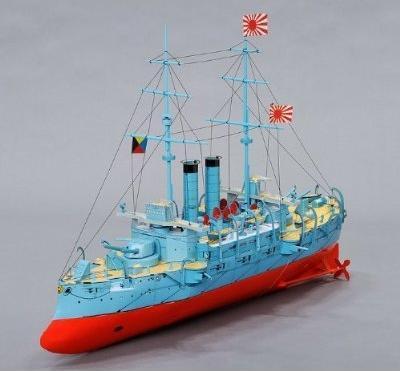 軍艦三笠のペーパークラフト