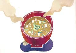 おいしい味噌汁飲んでますか?(「まんまるダイズみそづくり」より)