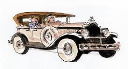 ジョンソン館長が乗ってきたりっぱな車(「あたまにつまった石ころが」より)