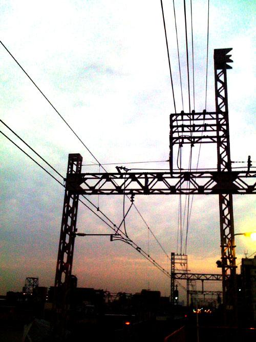 夜明けの電線2