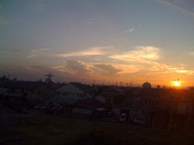 車窓の夕日Ⅱ