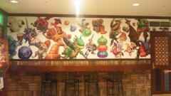 ルイーダズカフェ・モンスターだらけの壁