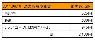 凛 2011.06.18診療明細書