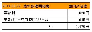 凛 2011.08.27診療明細書