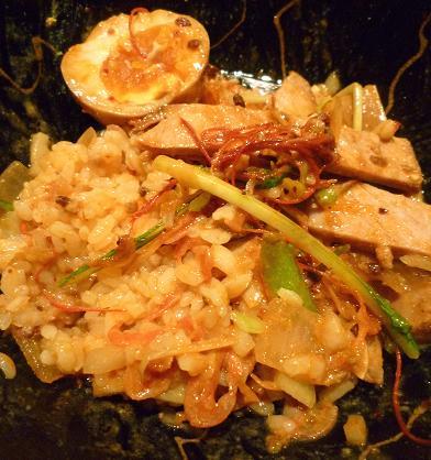 『麺喰屋 澤』 汁無担々麺(最後にランチサービスのご飯を混ぜてみました)