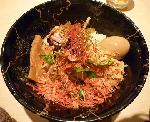 『麺喰屋 澤』 汁無担々麺(裏から見た図)