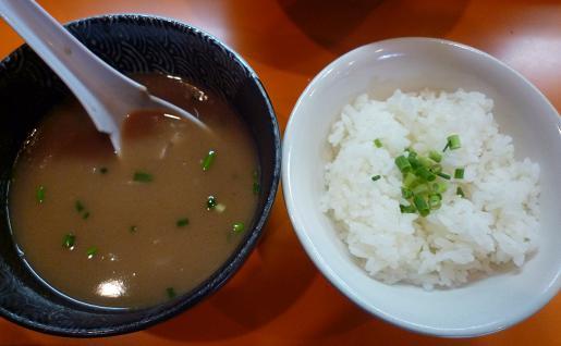 『一本氣』 限定裏(メルマガ麺バー限定つけ麺・9月22、27日のみ20食)ご飯割り
