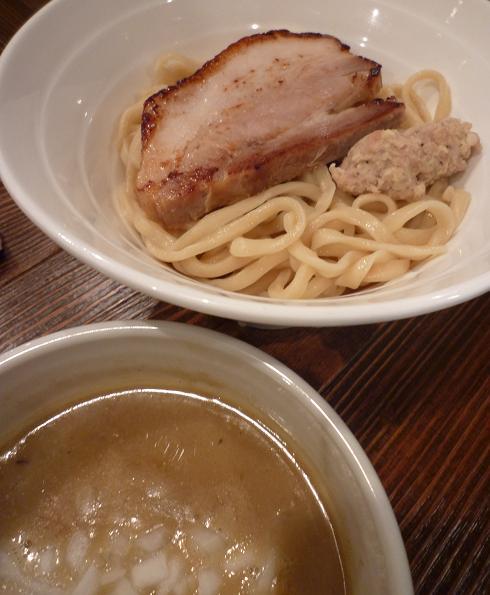 『らあめん 元』 濃厚鶏ポタつけ麺(アップ)