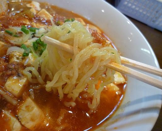 『まごころラーメン竹』 マーボメン(麺アップ)