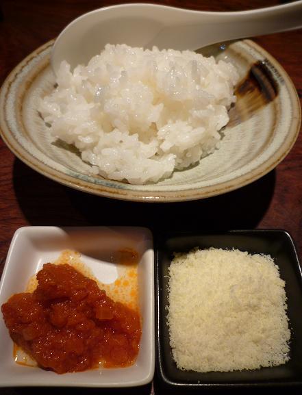 『羽前』 リゾットセット(ご飯・チーズ・トマトペースト、150円)
