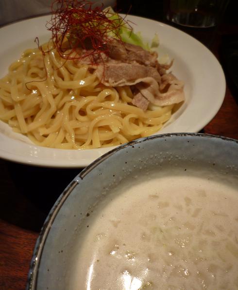 『羽前』 鶏塩ポタージュつけ麺(並・アップ)