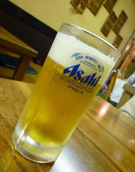 『土地』 生ビール(350円)