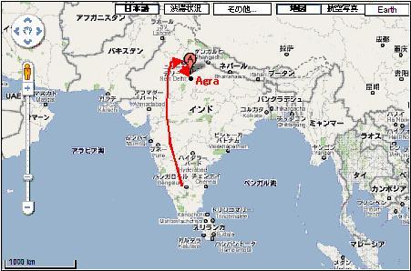 Agra,Delhi map