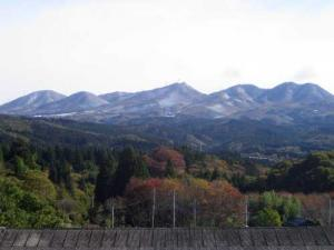 初雪の榛名山