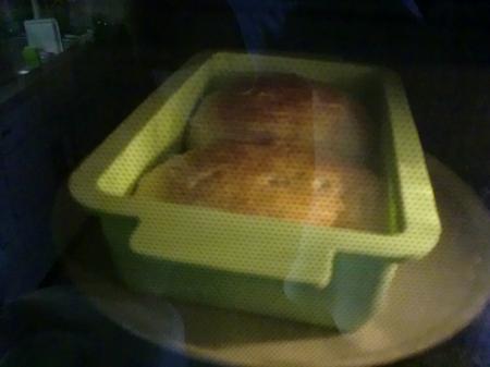 パン焼き中