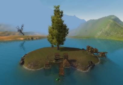 集合場所の島