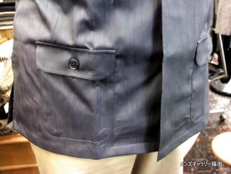 シャツの腰ポケット