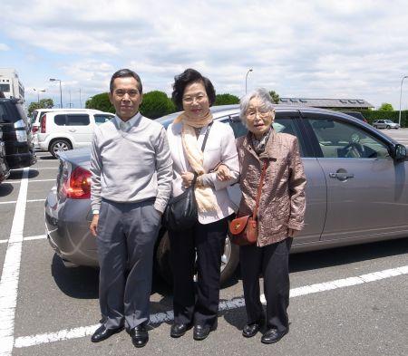 江ノ島の駐車場にて
