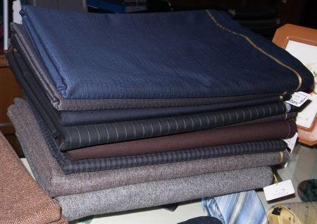 2012年秋冬物スーツ生地が一部届きました