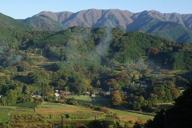 丘の眺め・秋