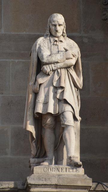 ルーヴル:コルネイユの彫像