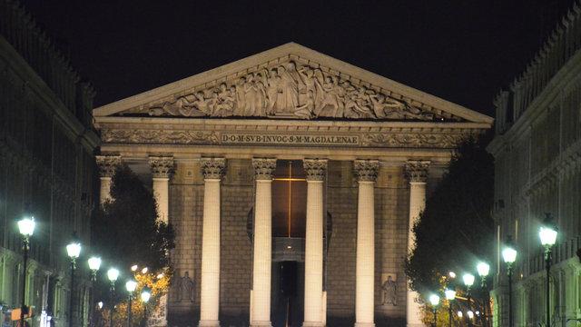 マドレーヌ寺院の夜