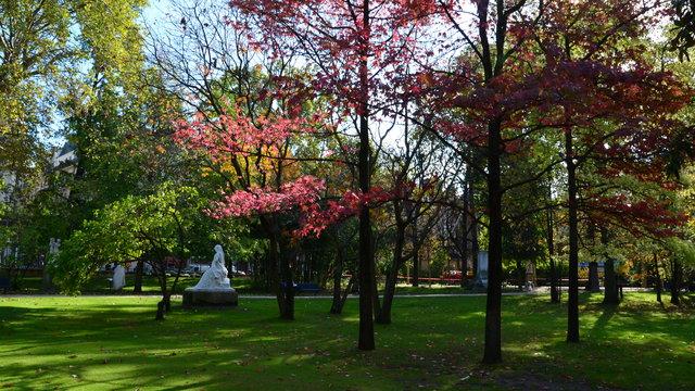 秋のリュクサンブール公園