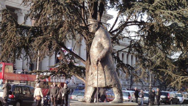 ウィンストン・チャーチル彫像