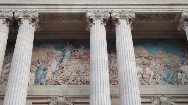 発見の殿堂のフレスコ画
