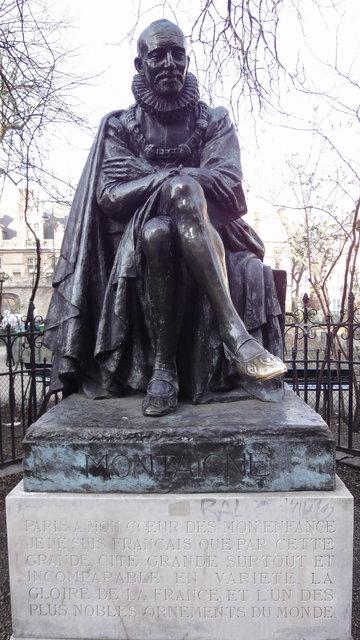 モンティーニュの彫像