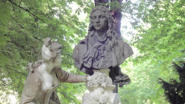 リュクサンブール公園:ヴァトーの記念碑