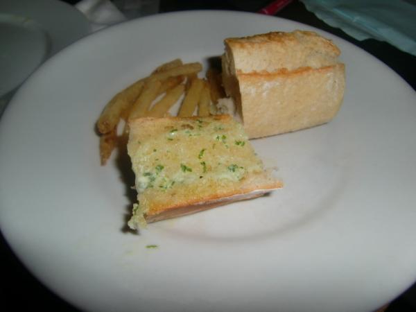 美味しいパンとポテト