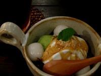 洋菓 抹茶アイスとほうじ茶ゼリーのパフェ 110530_cIMG_0137
