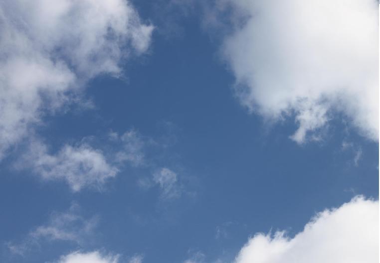 空がキレイでした