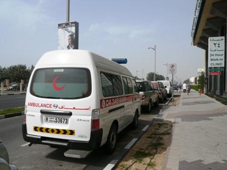 krankenwagen halbmond