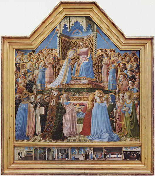 アンジェリコ聖母戴冠全体図