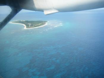 bird island seychelles air view