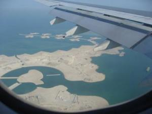 the pearl doha from plane