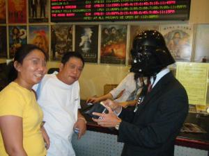 vader buying ticket