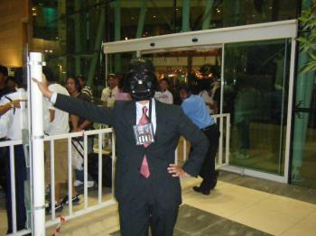 vader in front of entrance