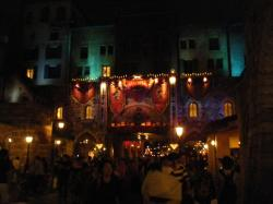 halloween gate disney sea night