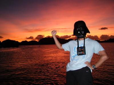 first sunset of palau