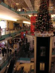 Inside of Abu Dhabi Mall at Christmas