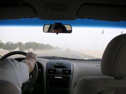 UAE road - sand wind