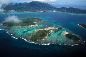 seychelles islands air view