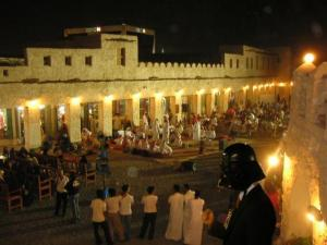 old souq open space night