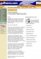 Sheikh Zayed death - Gulf Times