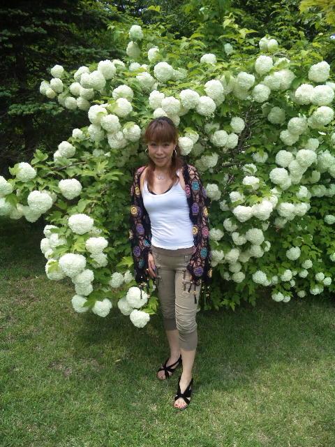 やくらいガーデン白い花